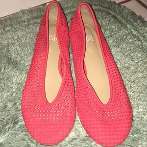 NWOT Eileen Fisher Vero Cuoio suede vented flats